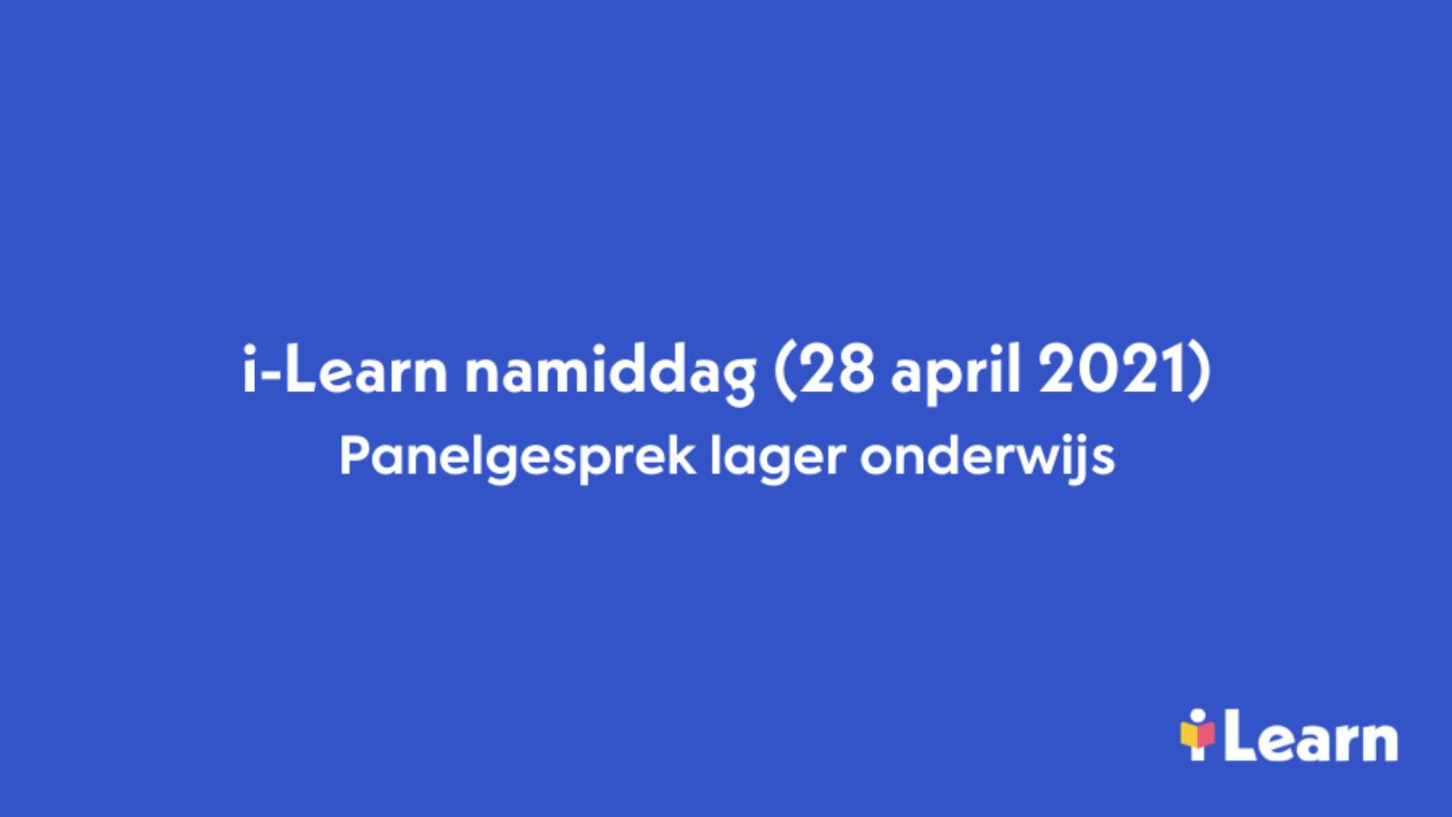 Video panelgesprek lager onderwijs i-Learn namiddag